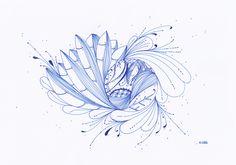 Le Creazioni di Kiara: crazy for DOODLING #36 ...in blu...