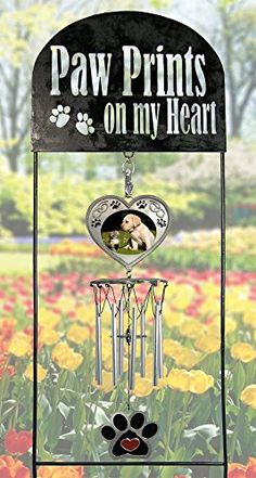 Pet Memorial Garden Stake - Pet Memorial Wind Chimes - Paw Prints on My Heart - Dog Memorial Gift - Cat Memorial Gift - Pet Sympathy Gifts - Pet Remembrance Gifts - Pet Bereavement Banberry Designs http://www.amazon.com/dp/B00V3L9MHW/ref=cm_sw_r_pi_dp_roPjvb0ZX0B8H