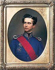 Ludwig II, painting by W. Tauber, 1864