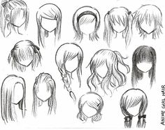 How to draw anime girl hairstyles. How to draw anime girl hairstyles step by step. How to draw anime girl hairstyles. How to draw cute anime girl hairstyles. How to draw anime girl hairstyles ponytail. Drawing Techniques, Drawing Tips, Drawing Sketches, Drawing Tutorials, Drawing Ideas, Sketching, Drawing Lessons, Sketches Tutorial, Drawing Poses