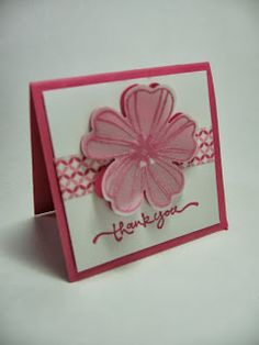 stamping up north ... small square flower card with vellum