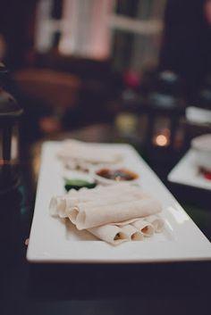 Pekin Duck Pancakes #canapes Engagement Party