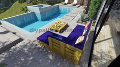 Instructions and 3D plans of how to make a sofa for the garden with pallets10