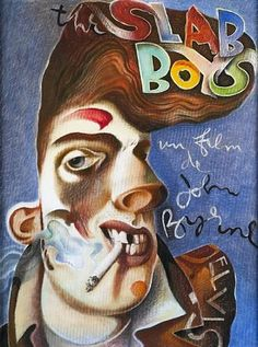 "John Byrne - ""The Slab Boys"", oil on board"
