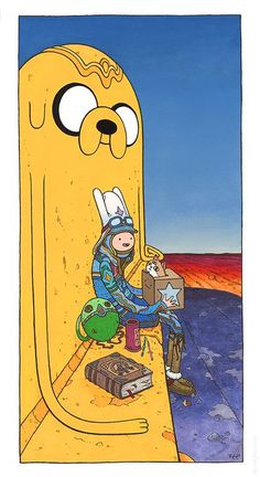 'Starwatcher Finn' by Z. E Pangborn. Inspired by Moebius and Adventure Time (and the other participating artists of )… Watch Adventure Time, Adventure Time Tattoo, Adventure Time Anime, Cartoon Network, Adveture Time, Land Of Ooo, Digimon, Marceline And Bubblegum, Adventure Time Wallpaper