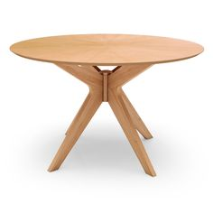 Starburst Round Dining Table - Meticulously made of Malaysian oak, the Starburst Round Dining Table from Inmod's Signature Collection serves as a stylish showstopper that . Solid Wood Dining Set, Modern Dining Table, Round Dining Table, Dining Room Table, Dining Chairs, Ikea Table, Kitchen Dining, Kitchen Decor, Mid Century Dining