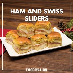 Looking for a great appetizer for your holiday guests? These sliders are a great combination of savory and sweet - perfect for your holiday event.