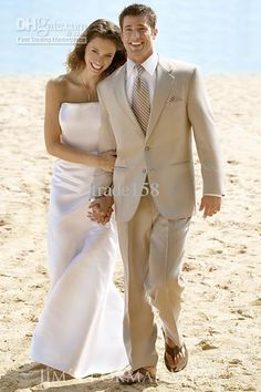Custom Made Beige Groom Tuxedos Wedding Suits Men Prom Clothing Groomsmen Suits & Tuxedo jacket+pants+waistcoat+tie ST:49 Online with $92.4/Piece on Trade158's Store | DHgate.com