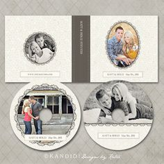 CD Case and DVD Labels Templates for WHCC and by KandidDesign, $10.00