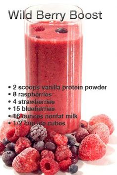 Homemade Protein Shake. You can substitute vanilla for chocolate protein & can even have this without protein for a regular smoothie :)