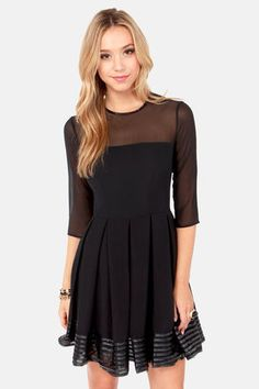 #BB Dakota India Dress - Black Dress - Dress With Sleeves - $87.00