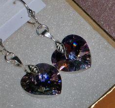 925 Sterling Silver Deep Lavender AB Swarovski by dsmenagerie