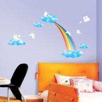 Decowall muursticker regenboog en engeltjes