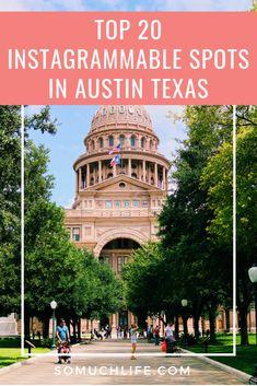 Top 20 Instagrammable Spots In Austin Texas Visiting Austin Texas, Visit Austin, Road Trip Essentials, Road Trip Hacks, Road Trips, Texas Travel, Travel Usa, Austin Texas Photography, Austin Murals