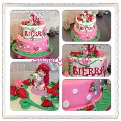 Strawberry Shortcake themed birthday cake created this weekend - I had so much fun creating this. Custom Birthday Cakes, Themed Birthday Cakes, Strawberry Shortcake, Create, Desserts, Fun, Tailgate Desserts, Deserts, Postres