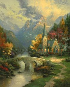 The Mountain Chapel Before we ever began to build temples in His honor, God graced us with natural sanctuaries radiant with the light of divine love and peace. In the crowded and busy world in which most of us must live, there is little enough time to seek out the secluded treasures that give testimony to a divine presence in the world. As my Chapels of Nature collection unfolds, we will seek the presence of God in His lakes, forests, hills, and valleys.