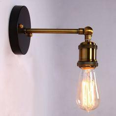 ONEPRE Vintage Industrial Brass Wall Sconce Edison Lamp Retro Metal Wall light, Retro Ceiling Pedant Light Fixture, Adjustable Wall Lamp - - Amazon.com