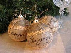 rustic christmas decorations - Buscar con Google