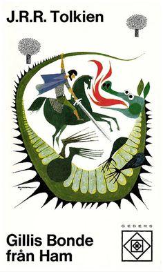 """Gillis Bonde från Ham"" (Farmer Giles of Ham) (Farmer Gil od Buta) – #Tolkien – 1970 swedish #book cover by Rolf Lagerson"