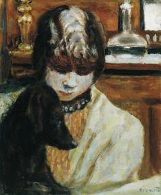 Pierre Bonnard - Marthe au Chien, 1925