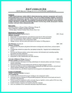 cool what objectives to mention in certified pharmacy technician resume check more at http