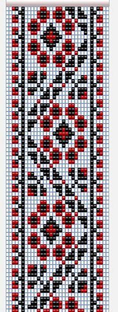 браслеты на станке из бисера схемы с украинским орнаментом - Пошук Google
