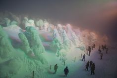 Ice monsters in Japan, Mt. Zao, Yamagata prefecture.