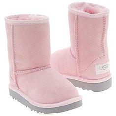 Kids UGG #39; Classic Short Boot Pre/Grade School Baby Pink Shoes.