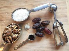 Coconut Date Balls ingredients