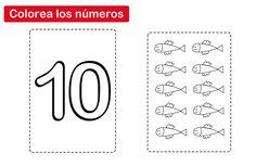 colorear el número 10