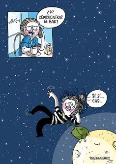 Agustina Guerrero - Diario de una volátil (El bar) #ilustración #illustration #volátil