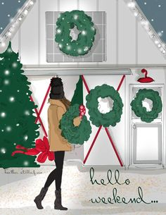 The Holiday collection from Heather Stillufsen of Rose Hill Design Studio on Facebook, Instagram and shop on Etsy and Amazon.com All images and quotes copyright protected.