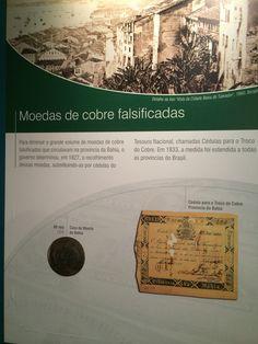 Moedas de cobre falsificadas  - Museu de Valores BCB