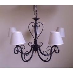 Wrought Iron Chandelier. Customize Realisations. 245