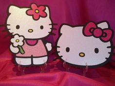 Wall Decorations Made with Hello Kitty Cricut Cartridge Hello Kitty Baby Shower, Cricut Cartridges, Wall Decorations, Party Planning, Party Ideas, Birthday, Handmade Gifts, Projects, Etsy