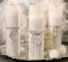 DIY VELAS ROMANTICAS.ROMANTIC CANDLES
