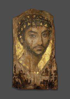 Mummy Portrait of a Man Wearing an Ivy Wreath, Early to century AD, Roman; The Fayum, Egypt Public Domain, Hera, Chicago Museums, Art Antique, Byzantine Art, Roman Art, Egyptian Art, Egyptian Mythology, Egyptian Goddess
