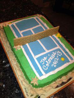 Tennis cake - cute idea for our tennis team