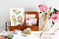 This pic from a new line by Poppie's for Grace is arriving at Urbanic and makes me want to get my paints out!