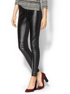 Michael Kors leather front leggings