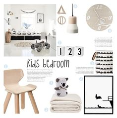 """""""Kids Bedroom"""" by c-silla ❤ liked on Polyvore featuring interior, interiors, interior design, home, home decor, interior decorating, Frette, HAM, Zara Home and Universal Lighting and Decor"""