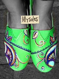 Custom hand painted shoes lillysoles@yahoo.com