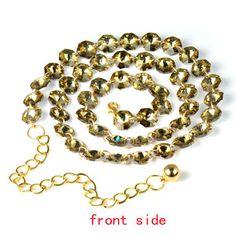 Fashion Women Jewelry Belt Topaz Glasses Beads Chain Waistband PT-758