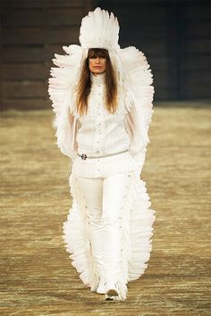 Native American Headdress at Chanel's Dallas-Inspired Show.