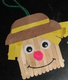 Funny Scarecrow! Kindergarten Craft 3 | Craft To Art