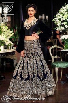 Deepika Padukone for Manish Malhotra at Delhi Couture Week 2013