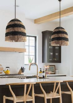 Rattan Light Fixture, Wicker Pendant Light, Rattan Lamp, Bamboo Lamp, Black Pendant Light, Outdoor Light Fixtures, Plywood Furniture, Greige, Design Studio