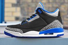 "Air Jordan 3 Retro ""Sport Blue"" (Releasing) - EU Kicks: Sneaker Magazine"