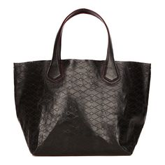 MZ Wallace NYC BLACK LEATHER PERFORATED JF TOTE
