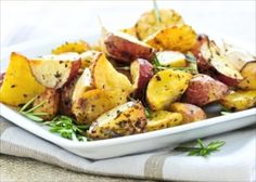 Healthy Side Dish Recipe: Baby Roasted Herbed Potatoes